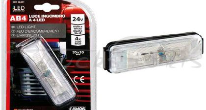 LUZ FRONTAL 4 LEDS BLANCO