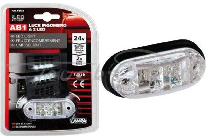 LUZ FRONTAL 2 LEDS 24V