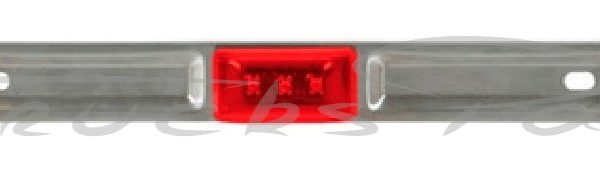 BARRA METAL ROJA 36 CM 9 LED