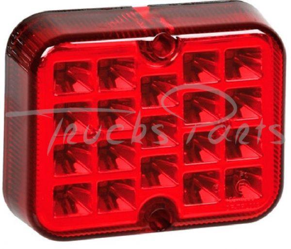 FARO 19 LED ROJO 12/24V
