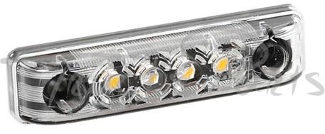LUZ GALIBO IMPERMEABLE 4 LEDS BLANCA