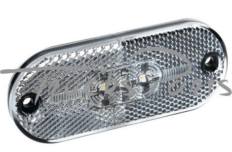 LUZ GALIBO IMPERMEABLE 4 LEDS BLANCA CON REFLECTOR