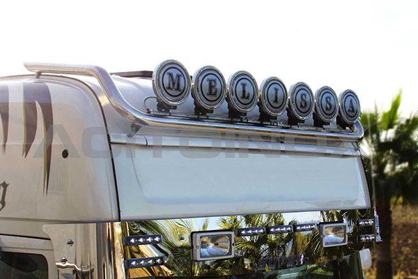 Barra portafaros modelo corto inox Scania R New R Streamline
