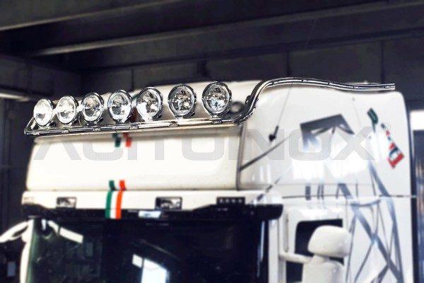 Barra portafaros modelo extra largo inox Scania R New R Streamline