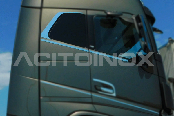 Contorno puerta en acero inoxidable Volvo Fh 4