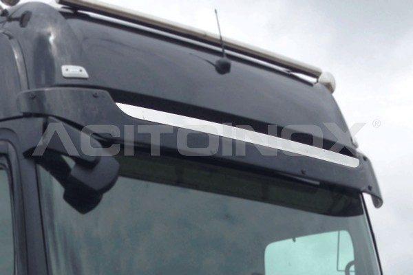 Embellecedor visera parasol Mercedes Actros MP 4 acero inoxidable