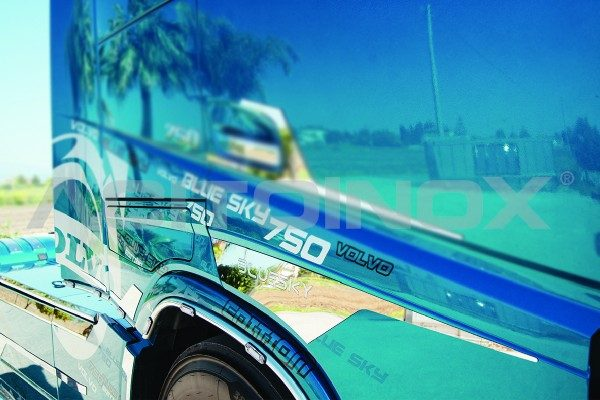 perfil puerta acero inoxidable Volvo Fh 4