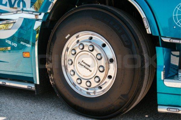 Perfil trasero guardabarros delantero acero inoxidable Volvo Fh 4