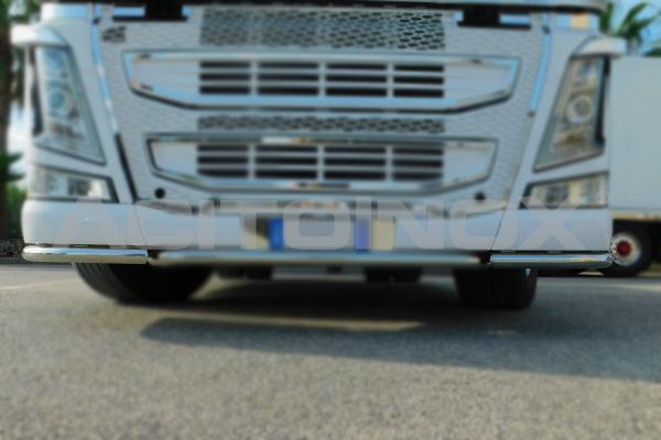 barra punteras bajo parachoques acero inoxidable Volvo Fh 4