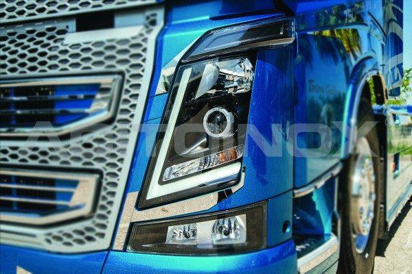 Perfil faro Volvo FH 4 acero inoxidable