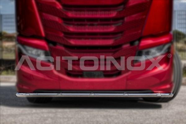 Barra bajo parachoques en acero inoxidable Iveco Sway