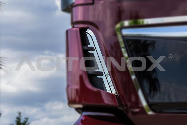 Perfiles interiores deflector aire delantero Man TGX Euro6 en acero inoxidable