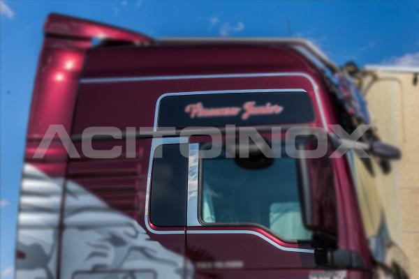 Perfil ventana en acero inoxidable Man TGX Euro 6