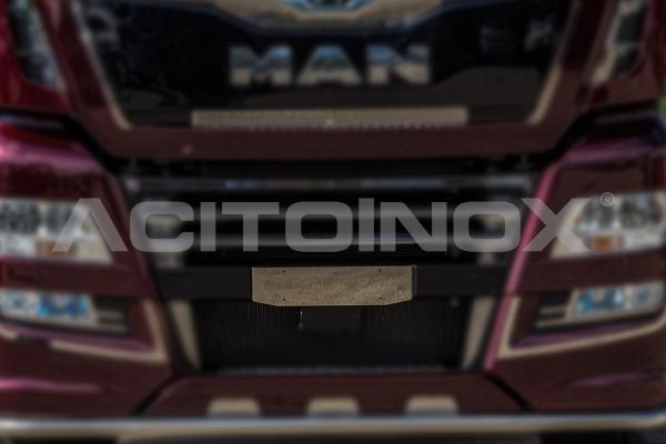 Placa portamatrícula en acero inoxidable Man TGX Euro 6